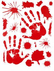 Sticker blutige Handabdrücke