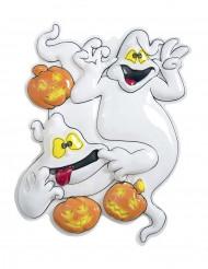 Wanddekoration mit Geistern und Kürbissen für Halloween