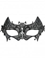 Fledermaus Augenmaske Netz-Optik schwarz