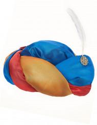 Orientalischer Turban mit Feder für Erwachsene
