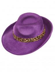 Violetter Pimp-Hut für Erwachsene