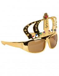 Brille mit königlicher Krone für Erwachsene