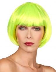 Gelbe Kurzhaar-Perücke für Damen