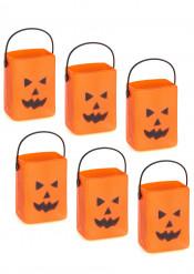 6 Süßigkeiteneimer Halloween Kürbis