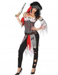 Kostüm blutverschmierte Piratin
