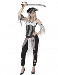 Zombie Piratenkostüm für Damen