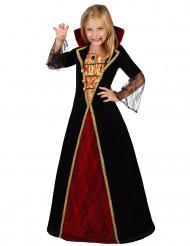 Edles Vampirkostüm für Mädchen schwarz-rot-gold