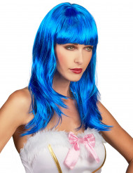 Blaue Langhaar Perücke für Frauen