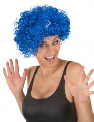 Blaue Perücke mit kurzen, lockigen Haaren für Frauen