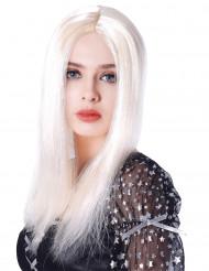 Lange Perücke blonde für Damen- 45cm