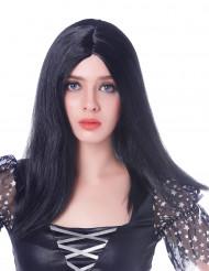 Schwarze Langhaaarperücke für Frauen  - 45 cm