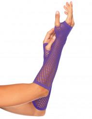 Netzstulpen violett für Erwachsene
