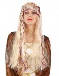 Mittelalterliche Perücke blond für Erwachsene