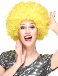 Gelbe Afro-Clown-Perücke für Erwachsene