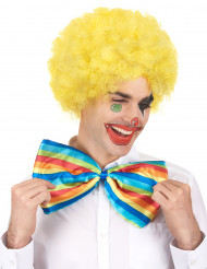 Gelbe, gelockte Clownperücke