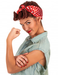 Retro-Perücke mit Haarband für Damen