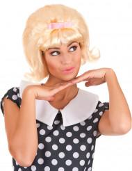 Blonde Perücke für Frauen im Look eines Starlet aus den 50ern