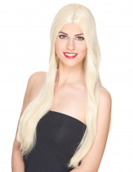 Luxus Perücke mit sehr langen, blonden Haaren für Frauen