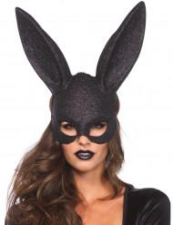 Hasen Maske mit Glitzer für Erwachsene