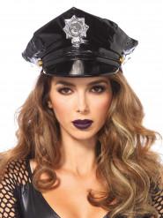 Polizei Lackmütze