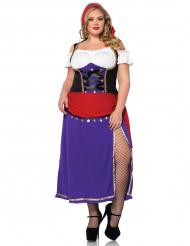 Plus Size Zigeunerin-Kostüm für Damen mit Korsett