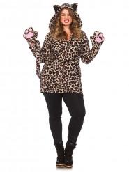 Leoparden-Kostüm für Damen in großer Größe