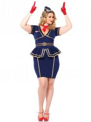 Stewardess-Kostüm für Damen in großer Größe