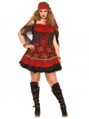 Kostüm Zigeunerin (Plus Size) für Damen