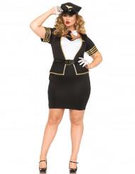 Verkleidung Pilotin für Frauen in großer Größe