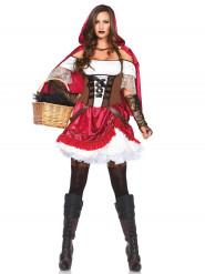 Kostüm Rebellisches Rotkäppchen für Damen