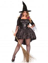 Hexen-Kostüm Plus-Size für Damen schwarz