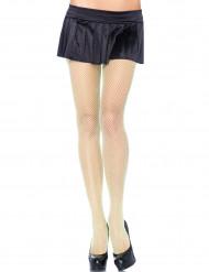 Grüne Netzstrumpfhosen für Damen