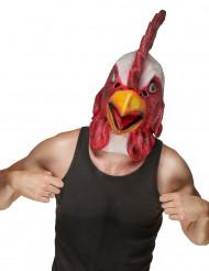 Latex Hahnenmaske für Erwachsene