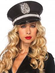 Schwarze Polizeimütze für Erwachsene