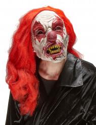 Clown Latexmaske für Erwachsene zu Halloween