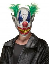 Clownsmaske aus Latex mit scheußlicher Fratze