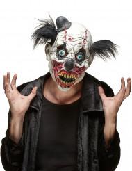 Clowns-Maske aus Latex mit echten Blutflecken für Erwachsene zu Halloween