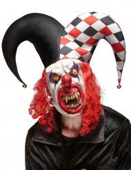 Gruselige Joker Latex Maske für Erwachsene