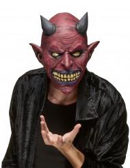 Latexmaske mit Dämonenfratze für Erwachsene zu Halloween
