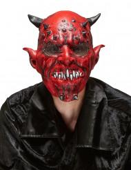 Latex Maske für Erwachsene an Halloween - Dämon