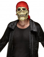 Piraten Totenkopf Maske aus Latex