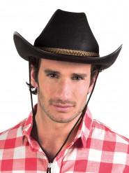 Schwarzer Cowboyhut für Erwachsene