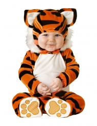 Tiger-Kostüm für Babys schwarz-weiss-orangefarben