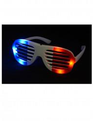 Frankrecih Fan Brille mit Leuchtdioden