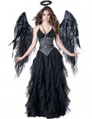 Hochwertiges Schwarzer Engel Kostüm