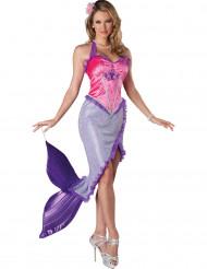 Meerjungfrau Kostüm für Damen in violett & rosa - Deluxe