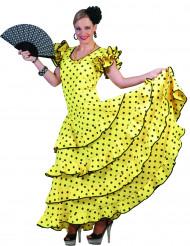 Flamenco-Kostüm in Gelb für Damen