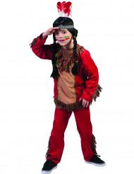 Rotes Indianer-Kostüm für Jungen