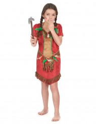 Rotes Indianerin-Kostüm für Mädchen
