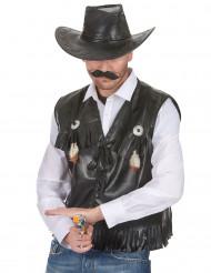 Western-Weste aus Lederimitat für Erwachsene